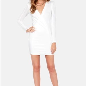 Lulus foreign film ivory dress
